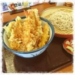 天丼てんや - のどくろと空豆の天丼サービスセット980円