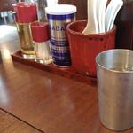 麺や真登 - テーブルセット
