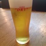 とっちゃば おいしい魚とこだわりの酒 - 生ビール