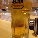 がんこ - 生ビールはスーパードライ650円