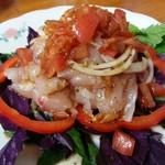 餃子菜館 万徳 - 鯛のカルパッチョ