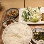 さち福やCAFE - ご飯は白米おいしい