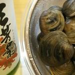酒音 - 三芳菊で作る酒蒸しは、香りよく。
