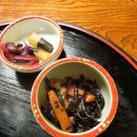 ふみくら茶屋 - お新香&ひじき煮