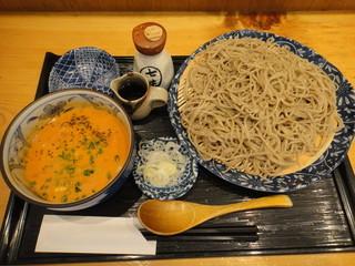 手打そば 太古福 - 浅利のとまとくりーむつけ蕎麦(大盛り)