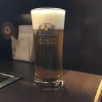 お好み焼 風月 - お好み焼きにはビールです。