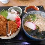 52180845 - ミニ丼ひれかつ・おろしポン酢とミニうどん 680円