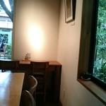 おたカフェ - 右側、鷹の道が。