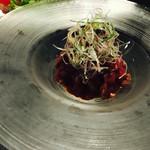 52181183 - 道産牛肉のタタキ〜ユッケ風〜