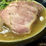 誠屋 - 太麺 肉入り3点盛り(980円)