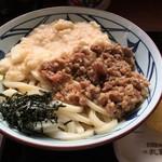 丸亀製麺 - 麦とろ牛ぶっかけうどん(冷、大)、税込680円