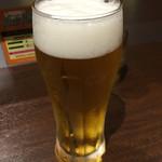 いきなりステーキ - 妻の生ビールです。