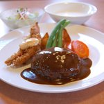 キッチン カトウ - 料理写真:自家製ハンバーグランチ(M)