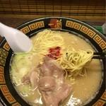 一蘭 - 麺とスープ合う。チャーシューも美味し