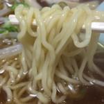 藤の家食堂 - 心地よい食感の麺です。