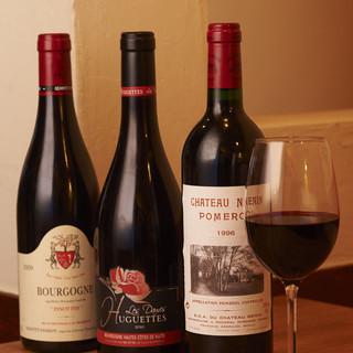 美味しいお食事と共にワインを。《200種類以上常備》
