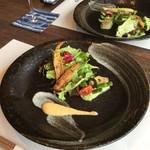 鉄板焼 開化屋 - 季節の前菜 サクサクの魚とジャガイモのムース