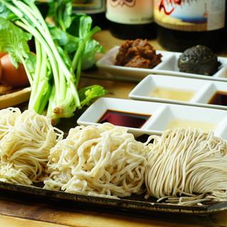 三種のオリジナル麺