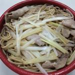 入船庵 - 肉南ばん・そば・大盛り(プラ容器)