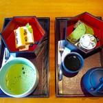 茶寮 八翠 - チーズケーキと 抹茶のパウンドケーキ