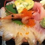 個室居酒屋 馬に魚に  - はみでる海鮮丼