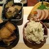 Godaimekuradainingusakatayashouten - 料理写真:◎4種盛り 800円 これは、お勧め! ポテトサラダ、八幡巻、ナス揚げびたし、白身魚の南蛮漬け