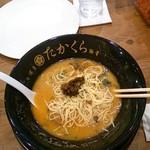 博多豚骨 たかくら - 黒(三番釜:重厚)高菜投入!