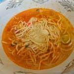 我がや - 煮干スープで普通のラーメンにも変化します♪