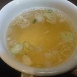 我がや - 煮干しスープ 要らない場合は¥50引きです