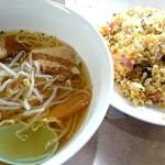 52226547 - 福飯店 麺飯セット(塩ラーメン&高菜炒飯) fromグリーンロール