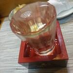 52227317 - 宮古の酒 『男山』 コップ酒もっきり♪