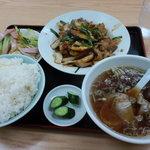 はなわ亭 - 豚肉とキャベツの味噌炒め 定食