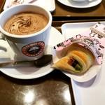サンマルクカフェ - おひなチョコクロ ベルギーチョコココア