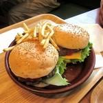 ハンバーグ専門店 トンプソン - BBダブルセット(1,230円)