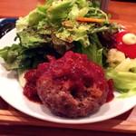 なか川 - ハンバーグ定食(¥1,080)