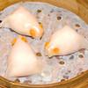 エビチリの金魚型蒸餃子