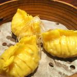 野菜と鶏肉のフカヒレ蒸餃子