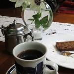喫茶 吉野 - キリマンジャロ&フルーツケーキ