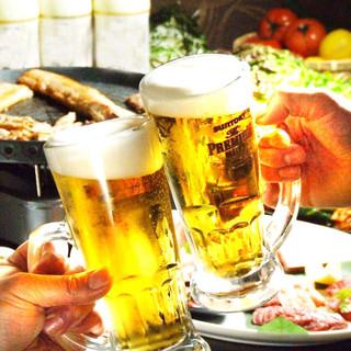 生ビールがなんと280円!!豊富なドリンクメニュー