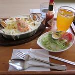 レストラン メモリー・ハウス - 料理写真:シーフードドリアセット\1,210(税込)