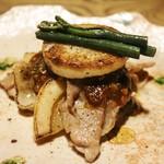 ごはんや 要兵衛 - 焼き物 もち豚と淡竹の蕎麦味噌焼き