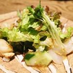 ごはんや 要兵衛 - 刺身 スズキ昆布〆とイタヤ貝のサラダ仕立て