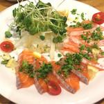 博多 魚一番 - サーモンカルパッチョ??