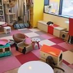 猫まるカフェ - 広めの店内(H28.5.12撮影)