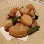 割烹 八彩 - 河内鴨のモモと野菜の唐揚