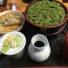 茶そば処 茶遊庵 - 料理写真:茶そば重ねせいろとミニカツ丼セット850円
