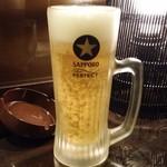 ごえもん - 生中(460円)は2杯頼んだ。