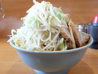 ラーメン二郎 八王子野猿街道店 2 - 小ラーメン+辛いの+野菜チョイ増しニンニク