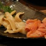 Shion - 鮮度抜群の貝盛り合せ(赤貝・つぶ貝・北寄貝)