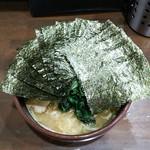 はねだ家 - ラーメン650円麺硬め。海苔増し100円。